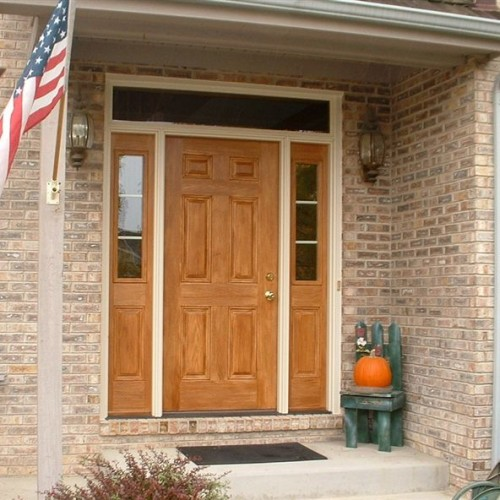 Target-Rehau fiberglass entrance - stained and gelcoated