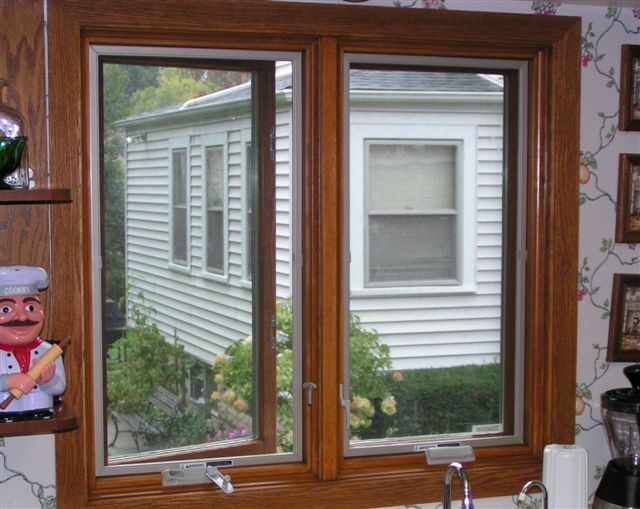 Pella Casements Over Kitchen Sink With Pella Replacement Windows.