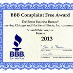 BBB Complaint Free Award 2012