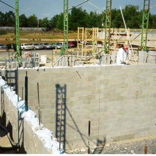 Block fill for new construction industrial